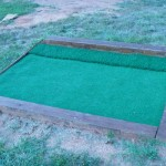 New Chipping mat at ballfield.  (now defunct course was site of 1951 Greater Topeka Open.