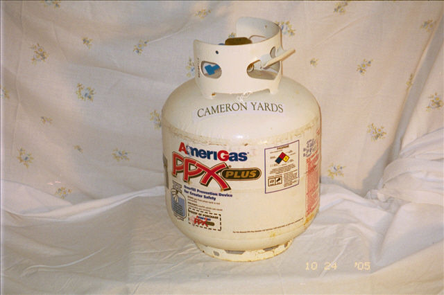Official Cameron Yards licensed liquid propane, cook like a Mule $39
