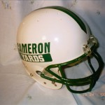Actual Cameron yards helmet used by Former Saints kicker Jerome Washington had he been a Mule player and had a head.